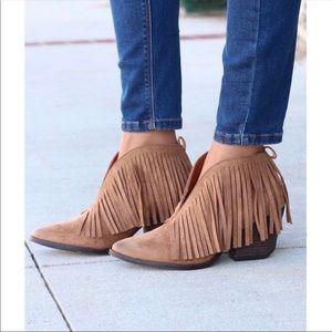Matisse Coconuts Shelton Brown Fringe Ankle Boots